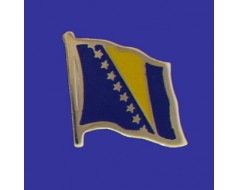Bosnia-Herzegovina Lapel Pin (Single Waving Flag)