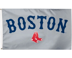 Boston Red Sox Flag, Gray Background