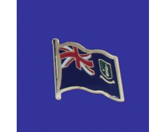 British Virgin Islands Lapel Pin (Single Waving Flag)