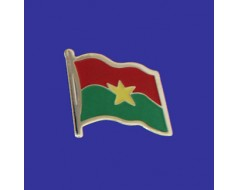 Burkina Lapel Pin (Single Waving Flag)
