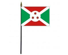 """Burundi Stick Flag - 4x6"""""""