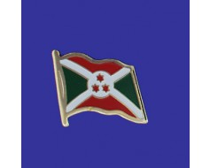 Burundi Lapel Pin (Single Waving Flag)
