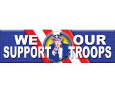 Support Troops Banner - Uncle Sam
