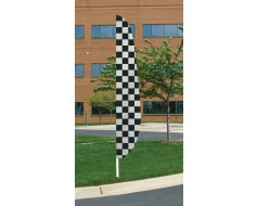 Black/White Checkered Feather Flag 12'x26""