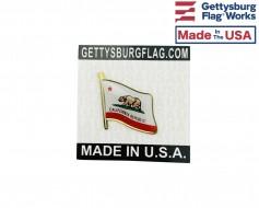 California State Flag Lapel Pin (Single Waving Flag)