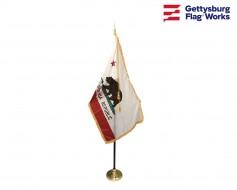 California Indoor Flag Set-3x5