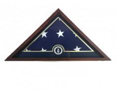 U.S. Flag Display Case with U.S. Air Force Medallion