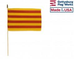 Catalonia Senyera (Spain) Stick Flag - Choose Options