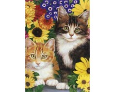 Cats And Flowers House Banner