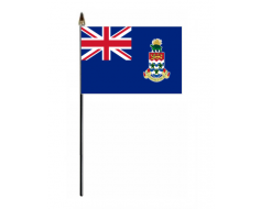 "4x6"" Cayman Islands Stick Flag (Blue)"