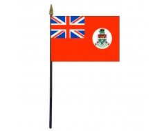 Cayman Islands Stick Flag - 4x6""