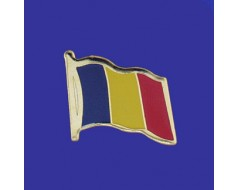 Chad Lapel Pin (Single Waving Flag)