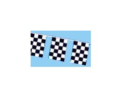 Black & White Checkered Rectangle Pennants