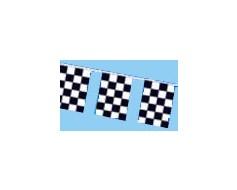 Black & White Checkered Rectangle Pennants