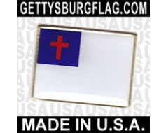 Christian Lapel Pin (Single Rectangle Flag)