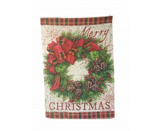 Christmas Wreath Banner & Garden Flag