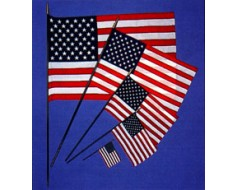 American Stick Flag, Lightweight Polyester - 2x3'