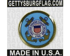 Coast Guard Seal Lapel Pin (Round Emblem Design)