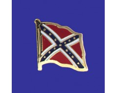 Confederate Flag Lapel Pin (Single Waving Flag)