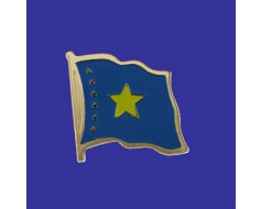 Congo Democratic Republic Lapel Pin (Single Waving Flag)