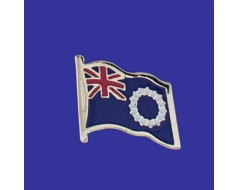 Cook Islands Lapel Pin (Single Waving Flag)