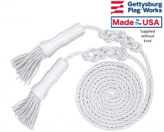 White Cord & Tassel for 3x5' flag