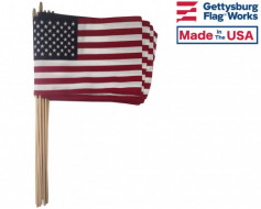 "American Stick Flag (Hemmed, On 5/16"" x 24"" dowel) - 8x12"""