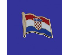 Croatia Lapel Pin (Single Waving Flag)