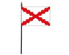 Cross Of Burgundy Stick Flag - 4x6""