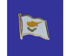 Cyprus Lapel Pin (Single Waving Flag)