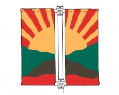 Aluminum Avenue Banner Twin Set