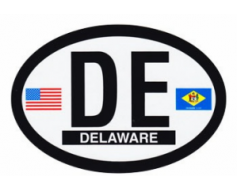 Delaware Oval Sticker