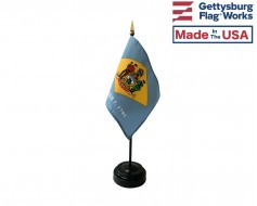 "Delaware State Stick Flag - 4x6"""