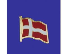 Denmark Lapel Pin (Single Waving Flag)