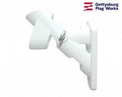 Aluminum Flag Bracket - 2 Position White