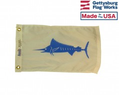 Marlin Fish Boat Flag - 12x18""