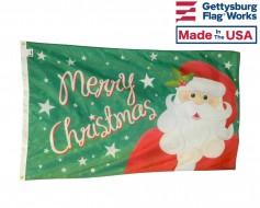 Merry Christmas Jolly Santa Flag - 3x5'