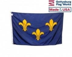 French Fleur-De-Lis Flag (3 Blue)
