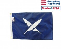"12x18"" Officer Boat Flag - Secretary"
