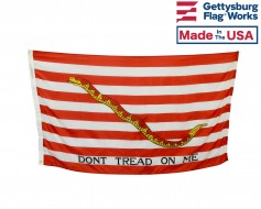 "First Navy Jack ""Dont Tread on Me"" Flag - 3x5'"