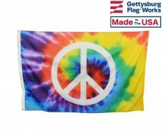 Tie Dye Peace Sign Flag - 3x5'