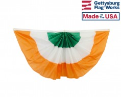Ireland Pleated Fan Bunting, 3x6', Nylon