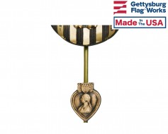 Purple Heart Insignia Plaque for Grave Markers