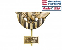 National Guard Insignia Plaque for Grave Markers