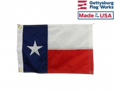 Texas Boat Flag - Sewn - 12x18""