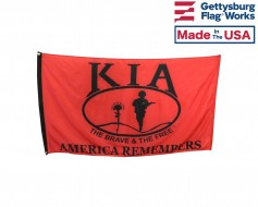 "Killed In Action (KIA) Honor - ""America Remembers"" Flag -..."