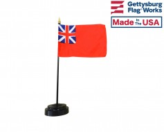 Historic British Red Ensign Stick Flag - 4x6""