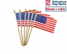 Printed Plastic American Stick Flag