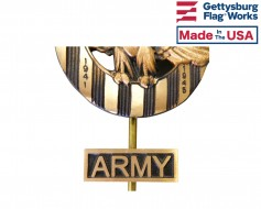 Army Insignia Plaque for Grave Markers