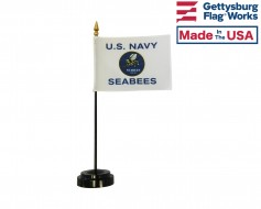 US Navy Seabees Stick Flag